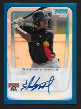 2011 Starling Marte Bowman Chrome Blue Refractor Auto RC 131/150