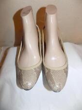 Cole Haan Nike Air Tan Snakeskin Design Slingback Shoes Shoe Size 7 B
