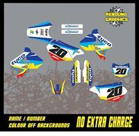 SUZUKI DRZ 400 Graphics Kit Sticker Kit Decals MX