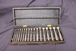 Complete Set of Vintage Antique Atlas Ball Gage Machinist Tool Lathe Hole Gauge