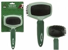 CRUFTS! Quality Soft Grip Double Sided Slicker Brush Comb Dog Puppy Detangling