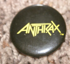 """Anthrax Vintage 1985 1"""" Pin Mint New From Megaforce'S Back Stock Rare Htf Oop"""