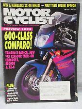 Vtg Motor Cyclist Motorcyclist Magazine May 1994 Yamaha Yzf600R Motorcycle