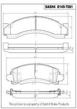 Disc Brake Pad Set-CERAMIC PADS Front,Rear Dash 4 Brake CD149