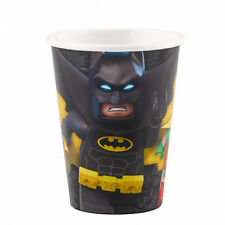 PACK 8 VASOS DE PAPEL PARAFINADO 266ML BATMAN LEGO (8819)