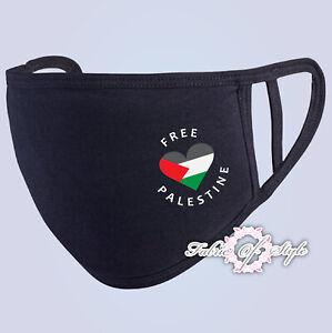 FREE PALESTINE Gaza FREEDOM 2020 Heart Face Mask Washable Reusable