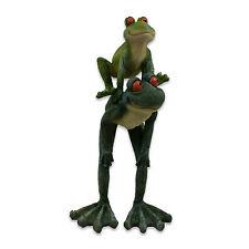 Frog Ornament Long Legged Leap Frog Figurine Parent & Baby Garden Statue