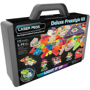 Laser Pegs Deluxe Freestyle Kit Original Lighted Construction Set 175 Pieces NEW