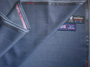DORMEUIL SUPER120's WOOL SUITING FABRIC BY Dormeuil 'TECNIK'MADE IN ENGLAND-3.3m