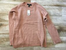 Forever 21 Crew Neck Mauve Long Sleeve Pullover Sweater sz L -NWT