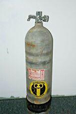 Aqua Lung Scuba Tank Vintage steel with Us Divers Santa Ana, vintage J valve