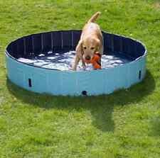 GRANDE cane imbottitura PISCINA CON COPERTURA Cuccioli Animali Domestici da Esterni Giardino Bagno Antiscivolo Nuovo