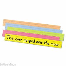 Pacon Assorted Sentence Strips Classroom Pocket Charts