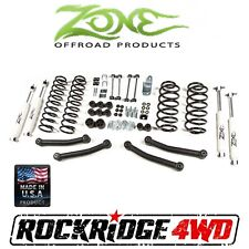 "Zone Offroad 4"" Suspension Lift Kit Jeep Wrangler TJ LJ 97-02 J10 4x4"