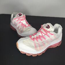 Nike Air Max 95 Womens Running Shoes White/Pink 553554-161 2012 Size 8.5 EUC!