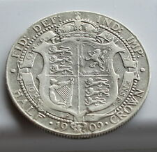 1909 King  Edward VII Half Crown Coin. 92.5% SILVER Birthday  Anniversary