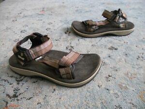 Men's Teva 6668 Cushion Footbed Adjustable Sport Sandals Sz. 9 brown