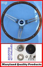 """Bronco F100 F150 F250 F350 Grant Wood Steering Wheel Wood Walnut 15"""""""