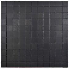 selbstklebendes Aluminium Mosaik schwarz gebürstet 200-L3B_f | 10 Mosaikmatten