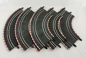 SCX Compact 1:43 Slot Car Racing Track Lot of 6 Curves Replacement Parts