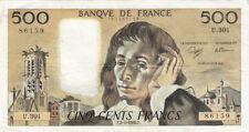 BILLET BANQUE 500 Frs PASCAL 02-03-1989 F U.301 SPLENDIDE