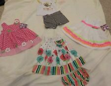 NEW LOT Baby Girl Clothes Size 6-12-18 months dresses summer shorts sets NWT
