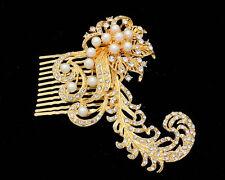 Silver Gold Bridal Bridesmaid Wedding Hair Comb Clip Pearl Rhinestone Diamante