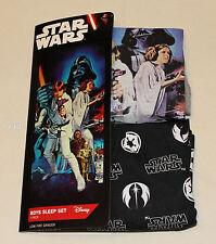 Star Wars Boys Grey Black Movie Poster Printed Pyjama Set Size 7 / 8 New