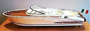 MAQUETTE DE BATEAU EN BOIS - RIVA RAMA 44 - Edition Spéciale- longueur : 70 cm