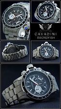 Solid Titanium Chronos Swordfish V.Cavadini Sport Model Action OFFER Black