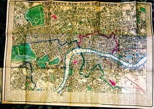 Antique map, Cruchley's new plan of London .