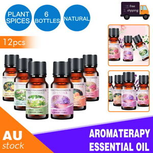 12x Essential Oil 100% Pure & Natural Aromatherapy Diffuser Fragrance Oils Aroma