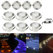 10Pcs 47mm Yard Landscape Lamp LED Deck Rail Path Soffit Step Light Kit Outdoor