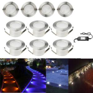 10Pcs 47mm Yard Landscape Lamp LED Deck Rail Path Soffit Step Light Kit Outdoor