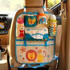 Car Back Seat Organizer Storage Bags Hanging Insulation Holder for Children Use