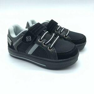 Dream Pairs Toddler Boys Sneakers Hook & Loop Faux Suede Canvas Black Size 7