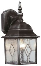 LED Outside Outdoor Traditional Lead Leaded Effect Wall Lantern Light Fitting