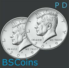 2 Coins   *Free Shipping* 2000 P /& D Kennedy Half Dollar