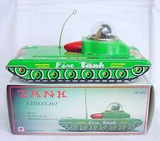 China Mf-956 Chinese Sparkling Fire Space Tank Friction Tin Toy Mib`80 Rare!