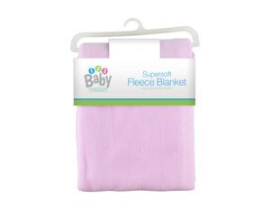 Super Soft Baby Fleece Blanket Shawl Pink Girls Newborn 75x100