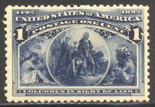U.S. #230 Mint NH BEAUTY - 1893 1c Columbian