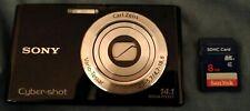 Sony Cyber-shot DSC-W330 14.1MP Digital Camera W/ Carl Zeiss lens + SD Card