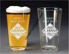 Personalised Engraved Beer Belly Under Construction Pint Glass Gift by jevge 16