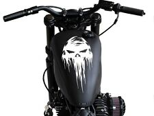 Motorcycle Dripping skull Gas tank decal sticker fits Harley and others 11.75x6