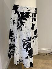 Linea cotton lined black & white skirt, UK 14