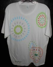 Tic Tac Breath Mint Candy T Shirt Size Large NWOT White Colorful Tultex Jersey