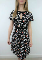 FRENCH CONNECTION BLACK FLORAL TEA DRESS SIZE 4 - 12 NEW £60 JERSEY TUNIC