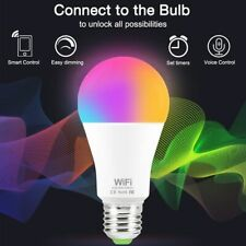 LED WiFi Smart RGB Light Bulb 15W Dimmable Google Home Control Smartphone Magic