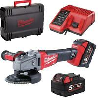 MILWAUKEE M18 CAG115X 502X Grinder 115 mm 18V + 2 Batteries 5.0 ah
