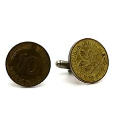 Cufflinks Coin Authentic Germany 10 Pfennig (Penny)